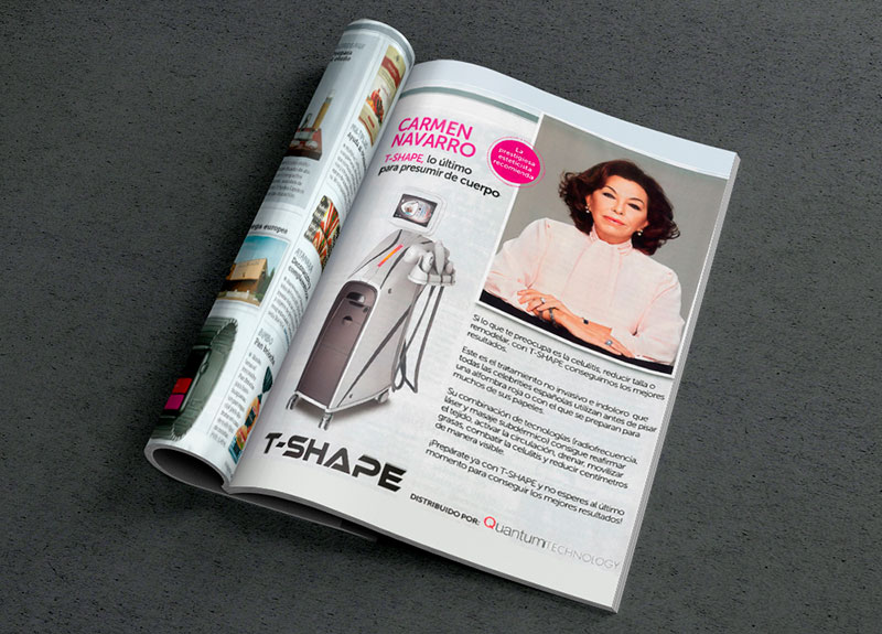 T-Shape aparece en Revista Semana como equipo corporal ideal según Carmen Navarro T-Shape aparece en Revista Semana como equipo corporal ideal según Carmen Navarro